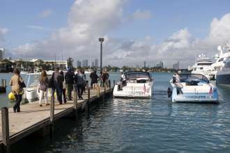 A BMW event celebrating the BMW Art Journey, a new art project supporting emerging artists in cooperation with Art Basel, at Stiltsville in Miami, FL on December 4, 2014.