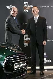 Milano, 15 dicembre 2014. MINI joins PITTI Immagine. Da sinistra: Raffaello Napoleone, Amministratore Delegato PITTI Immagine, e Sergio Solero, Presidente e Amministratore Delegato di BMW Italia.(12/2014).