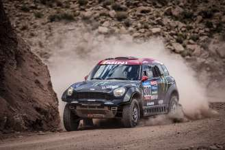 "Joan ""Nani"" Roma (ES) Michel Périn (FR) - MINI ALL4 Racing # 300 - Monster Energy Rally Raid Team - Dakar 2015"