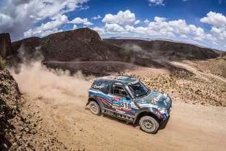 Vladimir Vasilyev (RU) Konstantin Zhiltsov (RU) - MINI ALL4 Racing # 310 - X-Raid Team - Dakar 2015