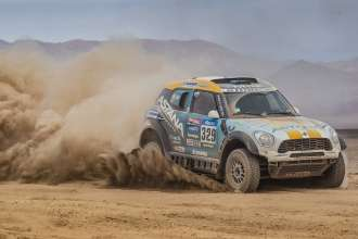 Aidyn Rakhimbayev (KZ) Anton Nikolaev (RU) - MINI ALL4 Racing # 329 - X-Raid Team - Dakar 2015