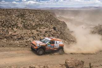 Zhou Yong (CN) Andreas Schulz (DE) - MINI ALL4 Racing # 332 - X-Raid Team - Dakar 2015
