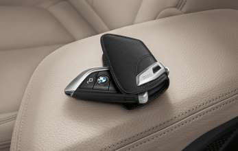 BMW 2 Series Gran Tourer, Accessories, Key fob (leather) with stainless steel clip (02/2015)