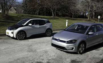 The BMW i3 and Volkswagen e-Golf can charge quickly using DC Fast Chargers as part of the recently announced express charging corridors, a partnership between ChargePoint, BMW and Volkswagen. The initiative, designed to add up to 100 fast charging locations along the U.S. East and West Coasts, will help meet the large and growing demand for convenient, publicly available electric vehicle fast chargers and support the adoption of electric vehicles in the U.S. Installations will occur both within and between relevant metro areas, strategically-spaced at a maximum of 50 miles apart, making it even easier to take long road trips in an EV. (01/2015 - Anders Krusberg/Newscast Creative)