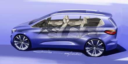 BMW 2 Series Gran Tourer, Design sketch (02/2015)