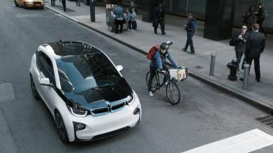 The all-electric BMW i3 is featured in a 60-second spot during Super Bowl XLIX on Sunday, Feburary 1, 2015. (01/2015)