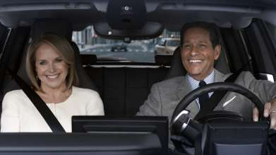 Katie Couric and Bryant Gumbel star in BMW's 60-second spot, featuring the all-electric BMW i3, during Super Bowl XLIX on Sunday, February 1, 2015. (01/2015)