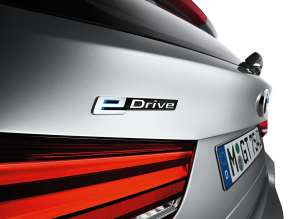 The new BMW X5 xDrive40e. eDrive badge.