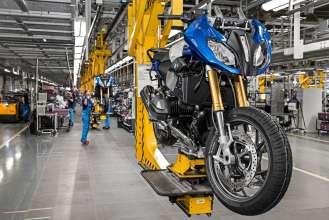Produktionsstart der neuen R 1200 RS im BMW Werk Berlin (02/2015).
