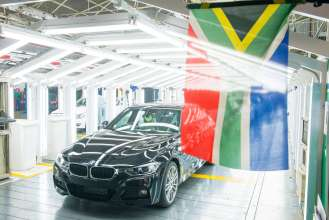 BMW Group Werk Rosslyn – Produktion der BMW 3er Limousine (02/2015).