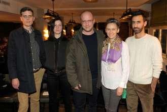Die Nominierten des Preis der Nationalgalerie 2015: Christian Falsnaes, Anne Imhof, Florian Hecker, Künstlerkollektiv Slavs and Tatars (v.l.n.r.) (02/2015).