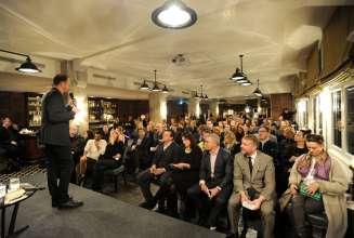 Holger Liebs, Chefredakteur der Monopol, beim BMWi Soho House Art Talk am 21.02.2015.