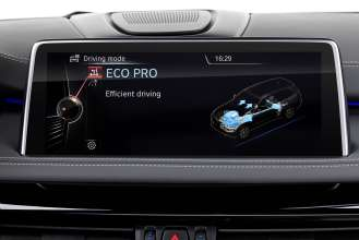 The new BMW X5 xDrive40e. Display: ECO PRO Mode (03/2015).