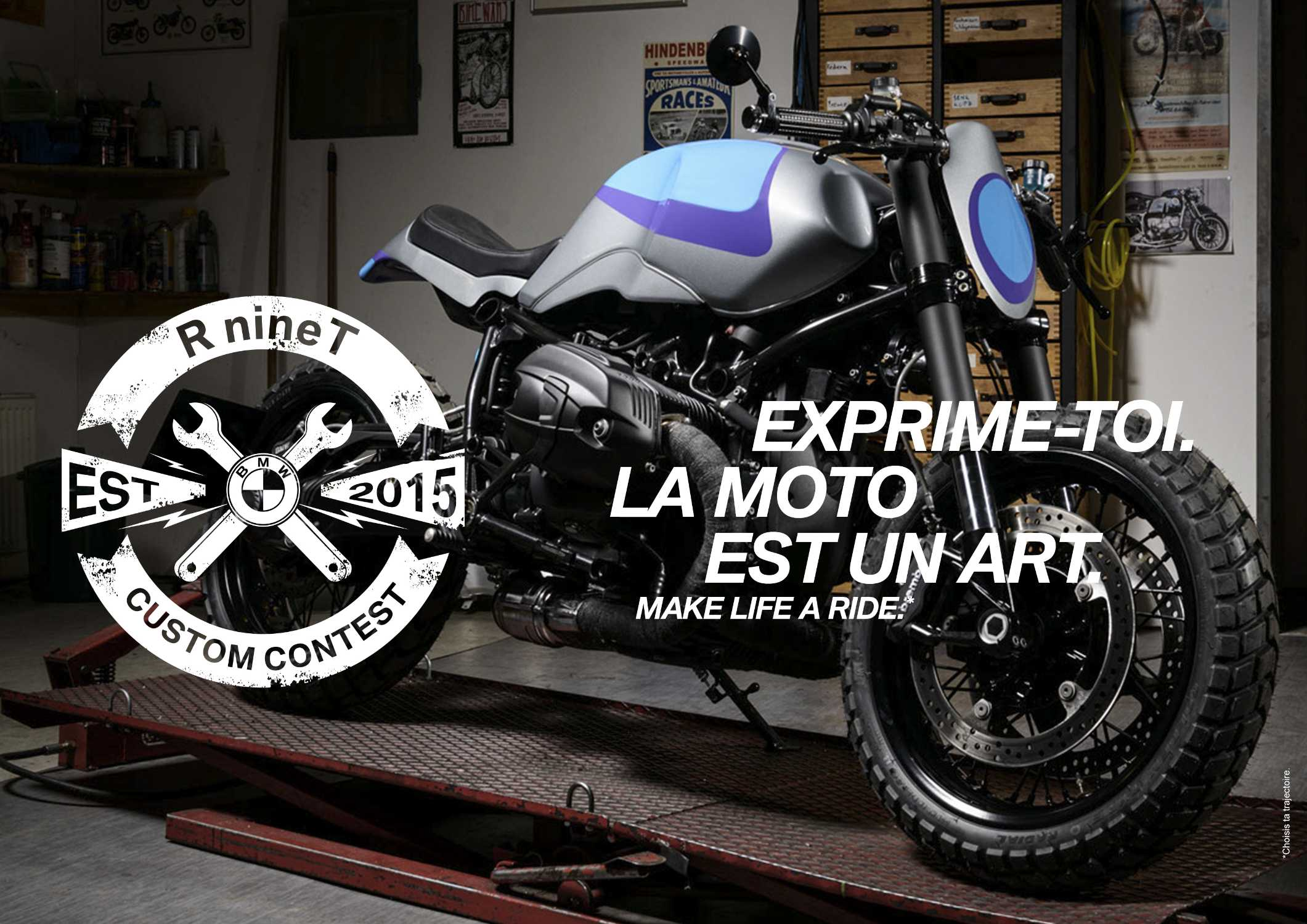 bmw motorrad france lance le r ninet custom contest. Black Bedroom Furniture Sets. Home Design Ideas