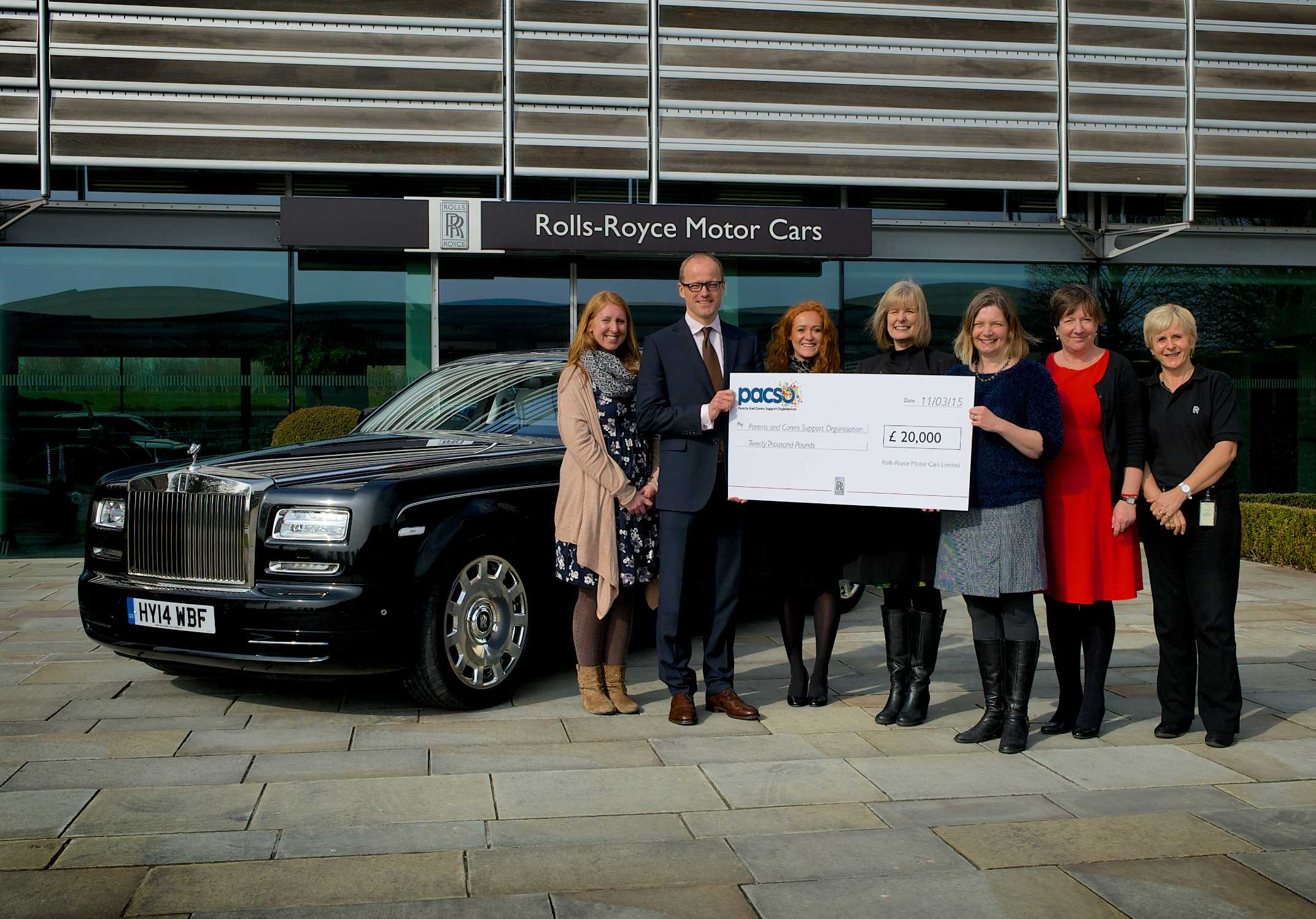 ROLLS ROYCE MOTOR CARS EMPLOYEES GO THE EXTRA MILE FOR LOCAL CHARITY
