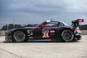 The BMW Z4 GTLM, raced by BMW Team RLL, debuts with BMW of North America 40 Years commemorative livery at Sebring International Raceway, March, 2015. Images free for editorial use.