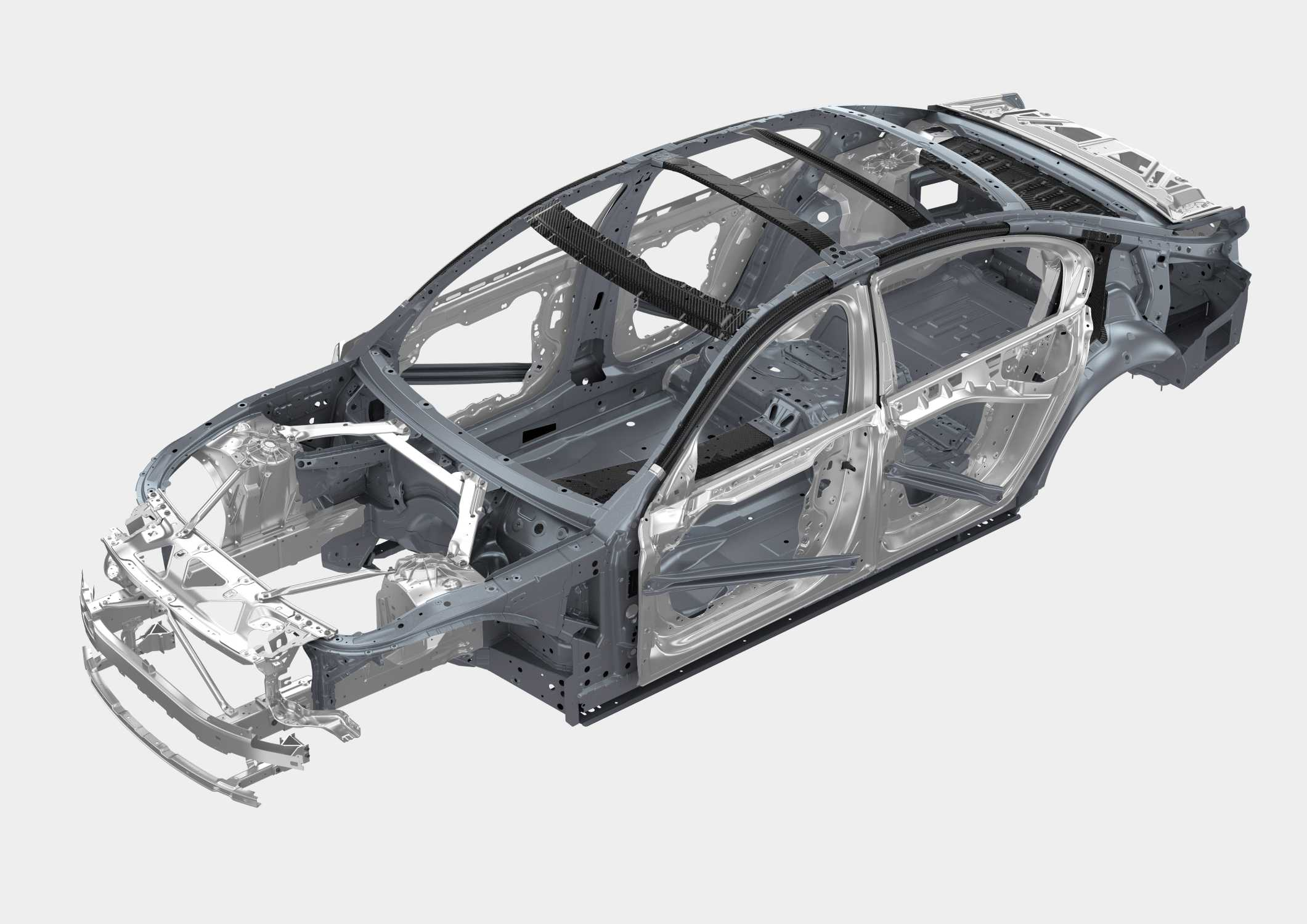 Gemeinsame BMW 7 Series body-in-white / carbon (04/2015). #IQ_25