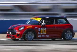 The MINI John Cooper Works #37 car at Sebring International Raceway in Sebring, Florida. (03/2015) Foster Peters Photography.