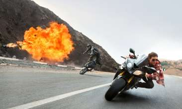 Ethan Hunt (Tom Cruise) on the BMW S1000RR in