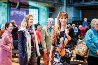 Nicola Benedetti, Violinistin für die BMW LSO Open Air Classics 2015. Foto: Igor Emmerich