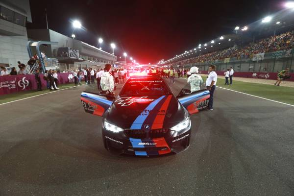 "BMW M ""Official Car of MotoGP™"", BMW M4 Safety Car with Water Injection, Losail,"