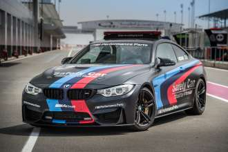 """BMW M """"Official Car of MotoGP™"""", BMW M4 Safety Car with Water Injection, Losail, Qatar (C) BMW 2015"""