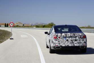 PreDrive BMW 7 Series camouflaged - Driving Assistant Systems (04/2015).