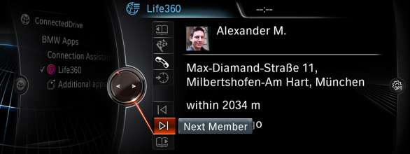 BMW ConnectedDrive, Life360 App (04/2015)