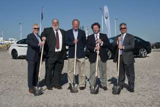 The BMW Groundbreaking Ceremony at the Port of Galveston Pier 10 on Tuesday April 21, 2015.