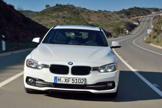 Der neue BMW 320d Touring EfficientDynamics Edition, Modell Sport Line (05/2015) Alpinweiß.