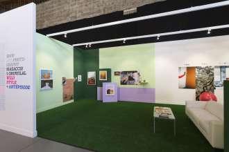 BMW exhibiting artists Mazaccio & Drowilal, Laureates of the BMW Residency Program, at Paris Photo LA 2015. (05/2015)
