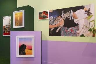 BMW exhibiting artists Mazaccio & Drowilal, Laureates of the BMW Residency Program, at Paris Photo LA 2015.