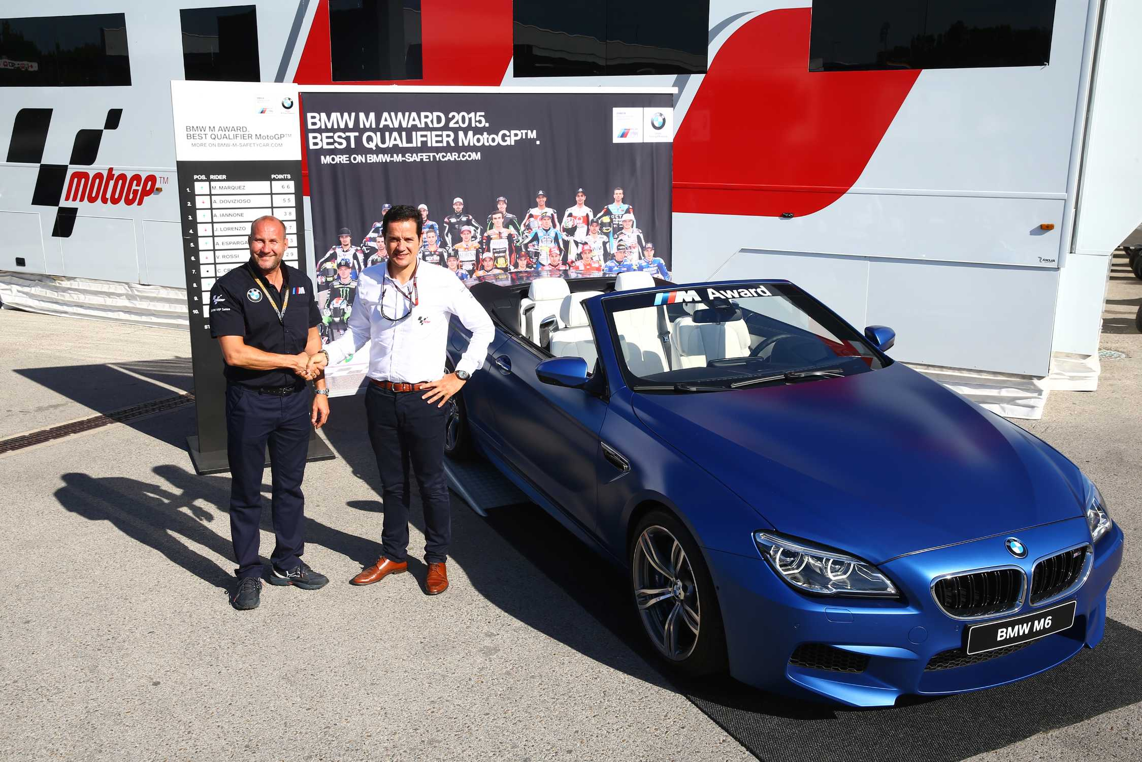Bmw M Award 2015 An Exclusive Bmw M6 Convertible For The Top Motogp Qualifier