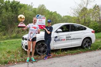 Wings for Life World Run 2015, Austria. Bernadette Schuster, Siegerin der Damenwertung (05/2015)