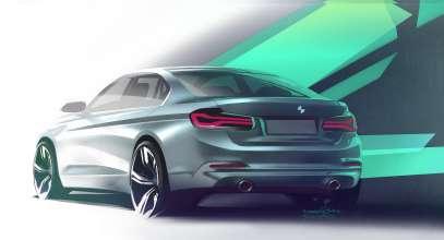 Die neue BMW 3er Limousine, Designskizze (05/2015)