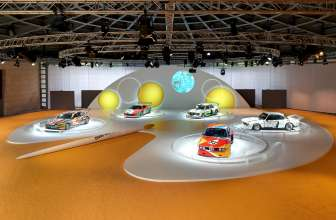 The BMW Art Cars by Jeff Koons, Andy Warhol, Roy Lichtenstein, Frank Stella and Alexander Calder in the special BMW Art Car exhibition during the Concorso d'Eleganza weekend. (c) BMW AG Photo: Christian Kain (05/2015)