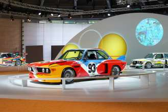 The BMW Art Car by Alexander Calder in the special BMW Art Car exhibition during the Concorso d'Eleganza weekend. (c) BMW AG Photo: Christian Kain (05/2015)