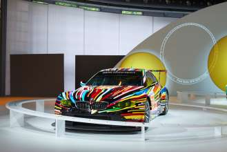 The BMW Art Car by Jeff Koons in the special BMW Art Car exhibition during the Concorso d'Eleganza weekend. (c) BMW AG Photo: Christian Kain (05/2015)