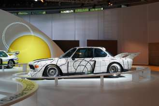 The BMW Art Car by Frank Stella in the special BMW Art Car exhibition during the Concorso d'Eleganza weekend. (c) BMW AG Photo: Christian Kain (05/2015)