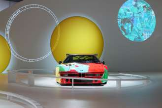 The BMW Art Car by Andy Warhol in the special BMW Art Car exhibition during the Concorso d'Eleganza weekend. (c) BMW AG Photo: Christian Kain (05/2015)