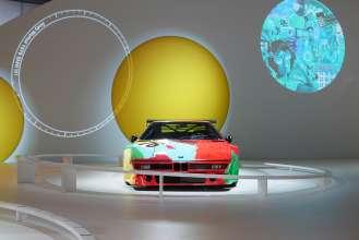 Das BMW Art Car von Andy Warhol in der Sonderausstellung zu den BMW Art Cars am Concorso d'Eleganza-Wochenende. (c) BMW AG Foto: Christian Kain (05/2015)