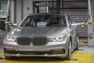 BMW Group Plant Dingolfing, production of the BMW 7 series - car assembly (06/2015).