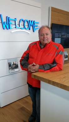 Shawn Bowshier, dealer principal, welcomes customers to BMW Motorcycles of Hilliard. (06/2015)