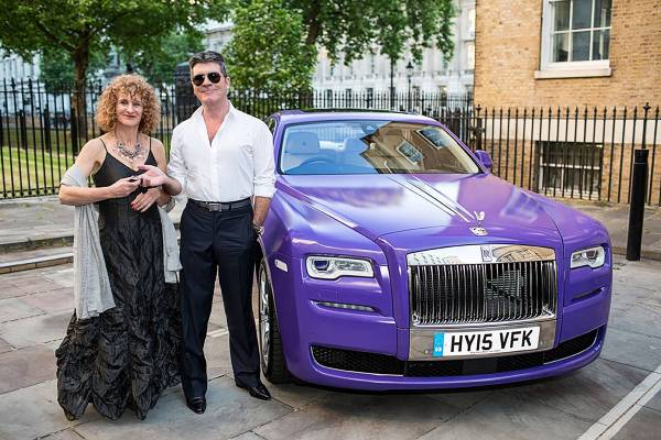 Simon Cowell Hands Over The Rolls Royce Keys To Barbara Gelb Obe Ceo For Together Short Lives