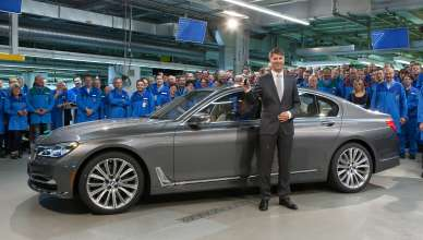 Start of production of new BMW 7 Series at Plant Dingolfing - Harald Krüger, Chairman of the Board of Management of BMW AG, at the employee event to mark the start of production (06/2015)