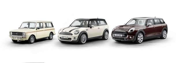 The new MINI Clubman and its predecessors. Mini Clubman Estate (1980), MINI Cooper D Clubman (2007), MINI Cooper S Clubman (2015). (06/2015)