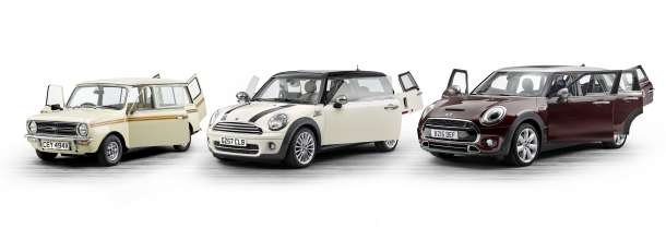 The new MINI Clubman and its predecessors. Mini Clubman Estate (1980), MINI Cooper D Clubman (2007), MINI Cooper S Clubman (2015). (06/2015)