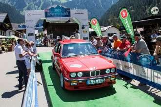 BMW Group Classic auf der Silvretta Classic Rallye 2015, BMW 333i (E30). (07/2015)