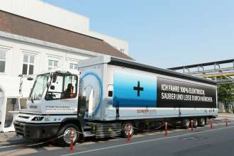The electric truck, officially put into service from the BMW Group and SCHERM Group in July 2015 (07/2015)