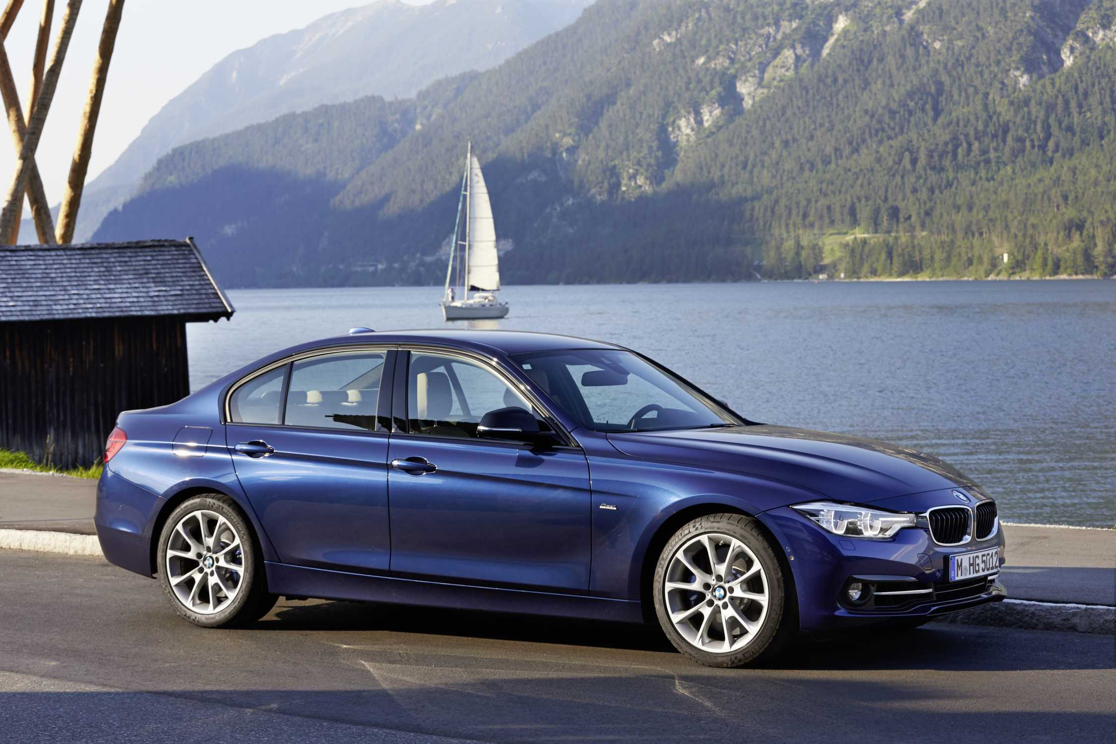 bmw 340i mediterranblau metallic leder dakota oyster sport line 07 2015. Black Bedroom Furniture Sets. Home Design Ideas